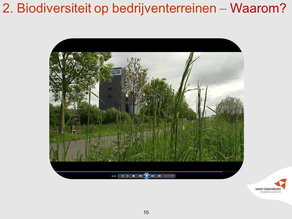 15 2. Biodiversiteit op bedrijventerreinen – Waarom?
