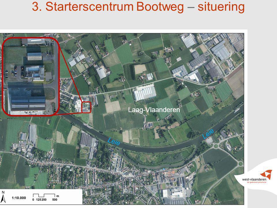 17 3. Starterscentrum Bootweg – situering Laag-Vlaanderen Leie