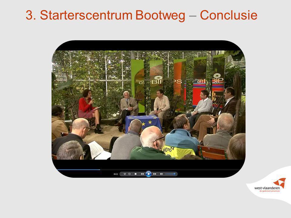 22 3. Starterscentrum Bootweg – Conclusie