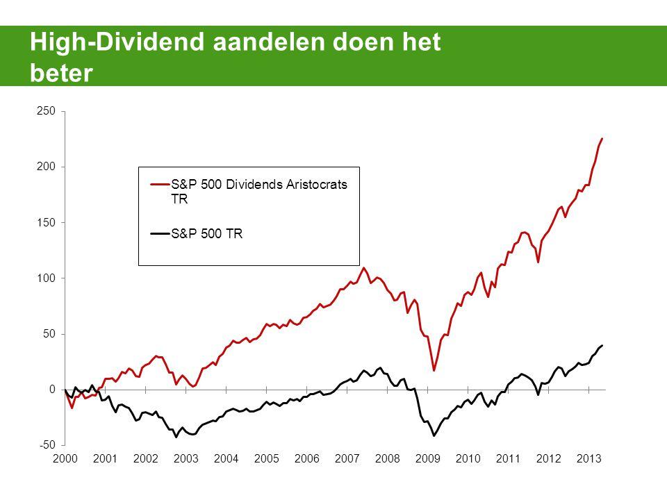 High-Dividend aandelen doen het beter