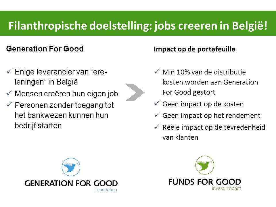 """Generation For Good Enige leverancier van """"ere- leningen"""" in België Mensen creëren hun eigen job Personen zonder toegang tot het bankwezen kunnen hun"""