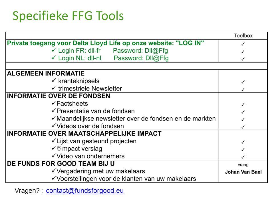Specifieke FFG Tools Vragen? : contact@fundsforgood.eucontact@fundsforgood.eu