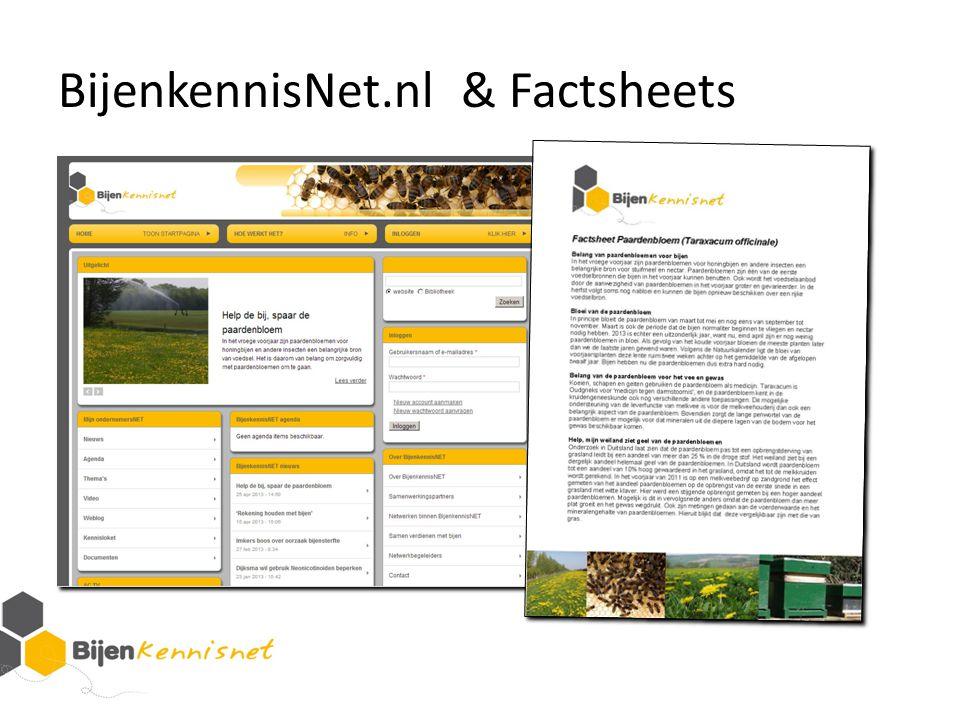 BijenkennisNet.nl & Factsheets