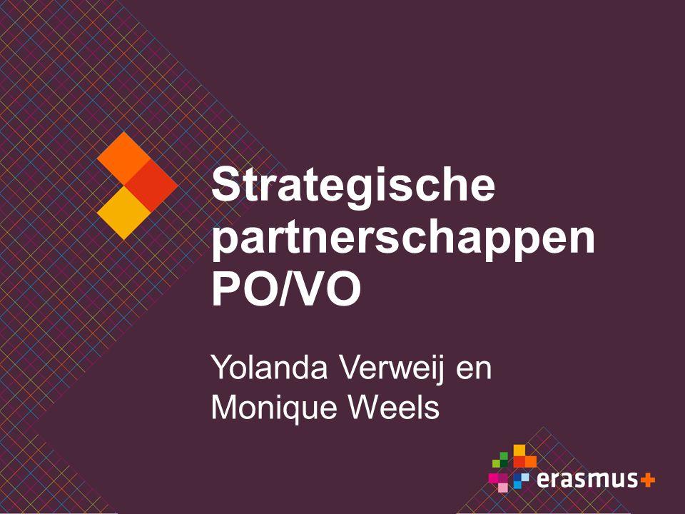 Strategische partnerschappen PO/VO Yolanda Verweij en Monique Weels