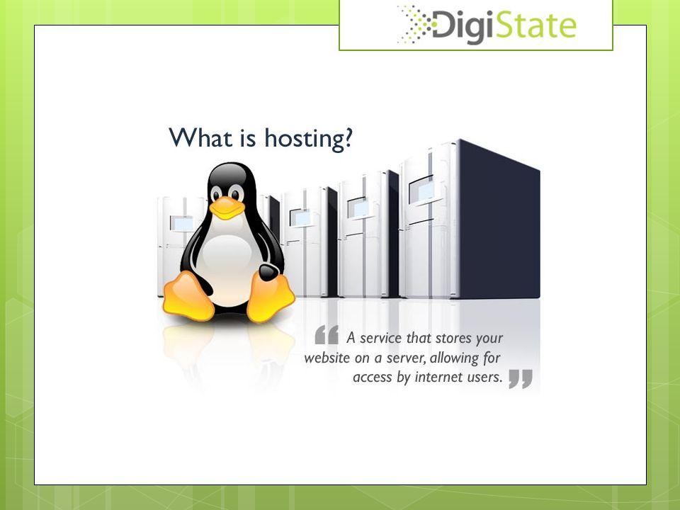 Webhosting vroeger