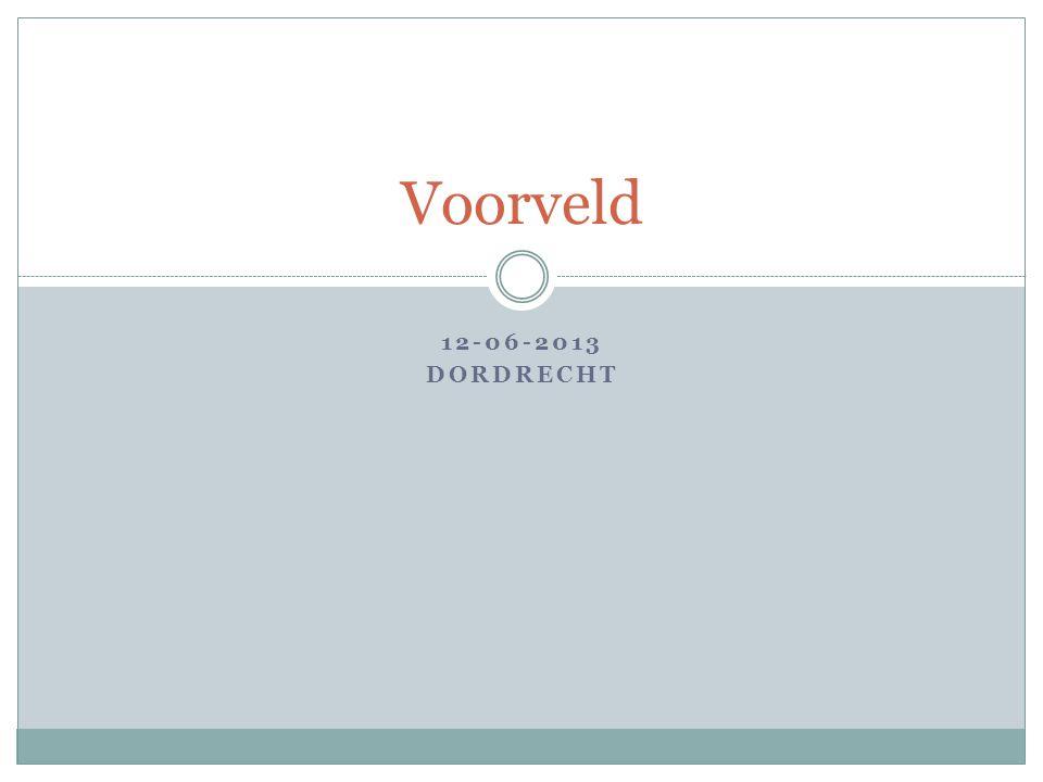 12-06-2013 DORDRECHT Voorveld