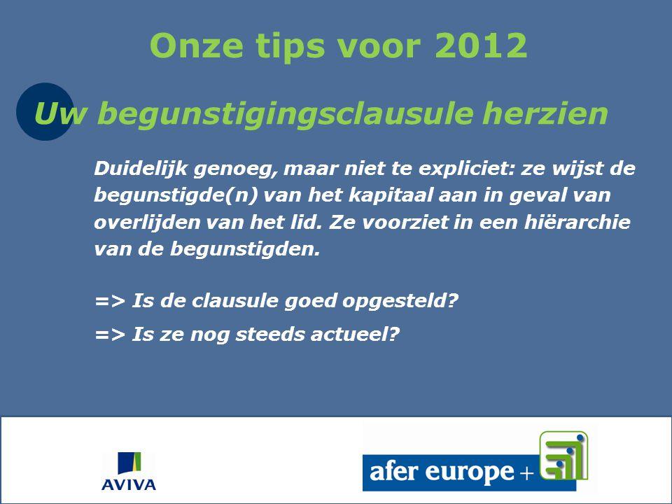 Nog enkele andere tips voor 2012
