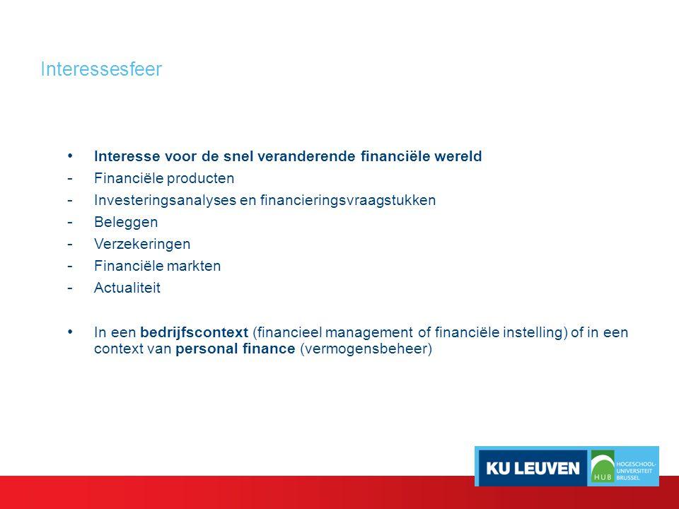 Toekomstperspectieven Financiële profielen zijn erg gegeerd !!.