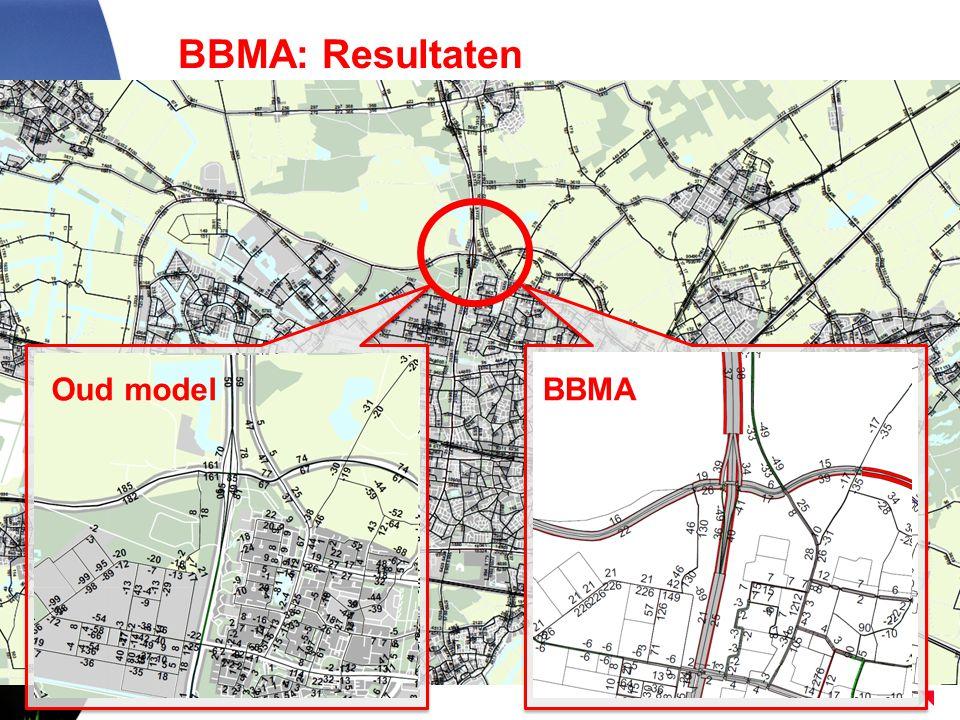 BBMA: Resultaten Gevolg: lagere prognoses door de nieuwe inzichten Oud model BBMAOud modelBBMA