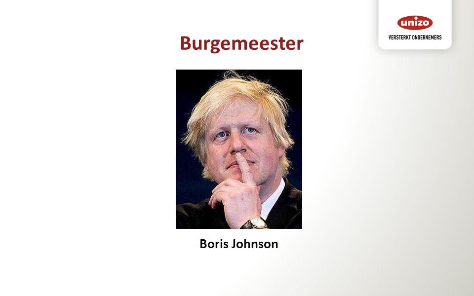 Burgemeester Boris Johnson