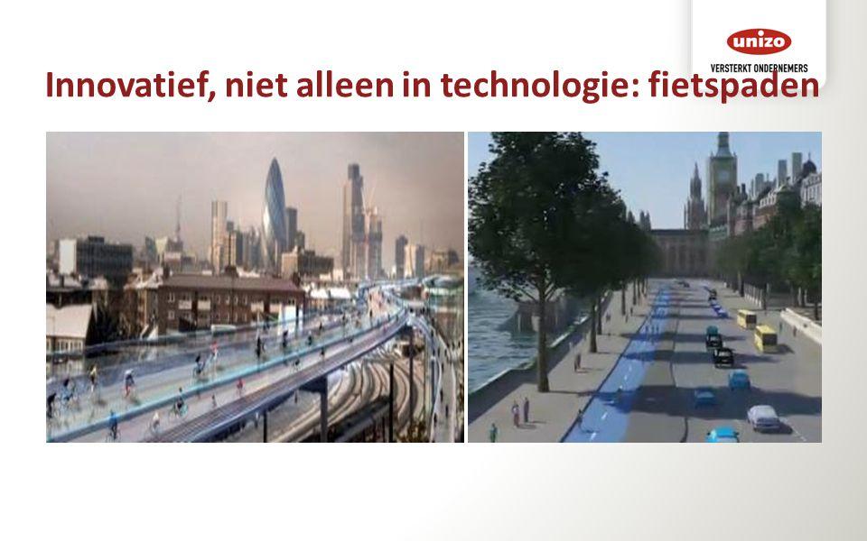 Innovatief, niet alleen in technologie: fietspaden