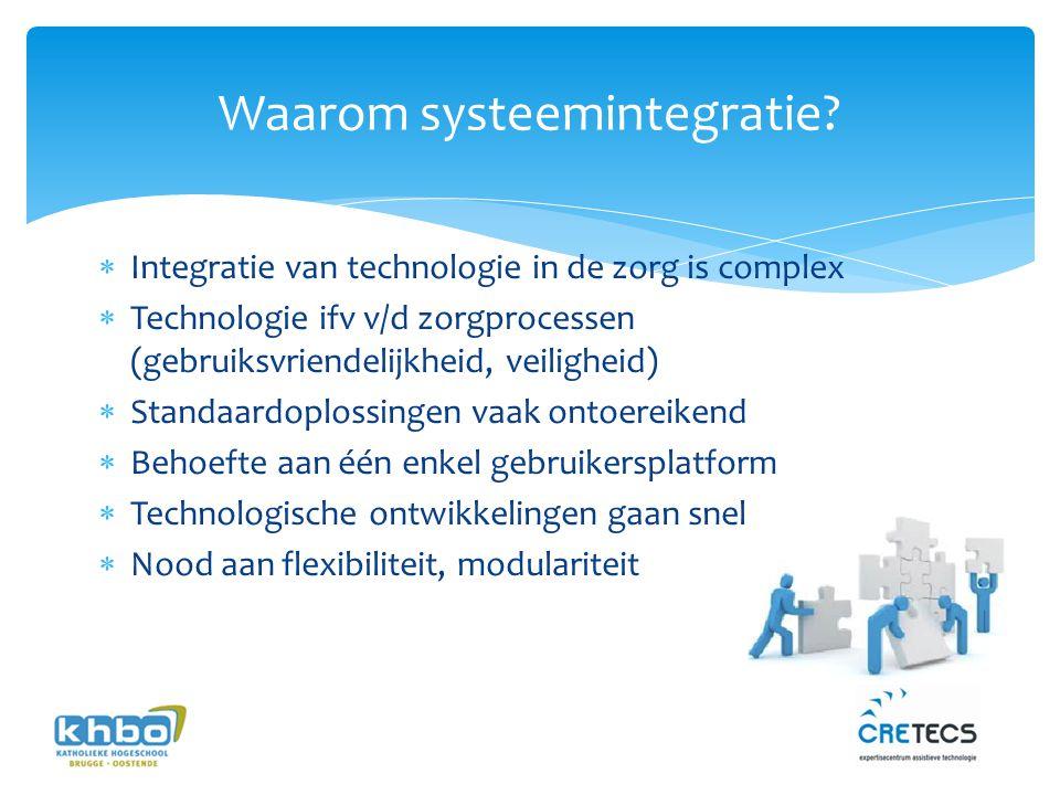Uitdagingen  Correcte vertaling eisen  systemen  Communicatie zorg-technici (multidisciplinair)  Projectplanning/management  Standaardisatie, protocollen,  Kwaliteitsgarantie (certificering)