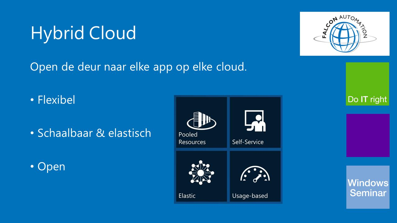 Hybrid Cloud Open de deur naar elke app op elke cloud. Flexibel Schaalbaar & elastisch Open