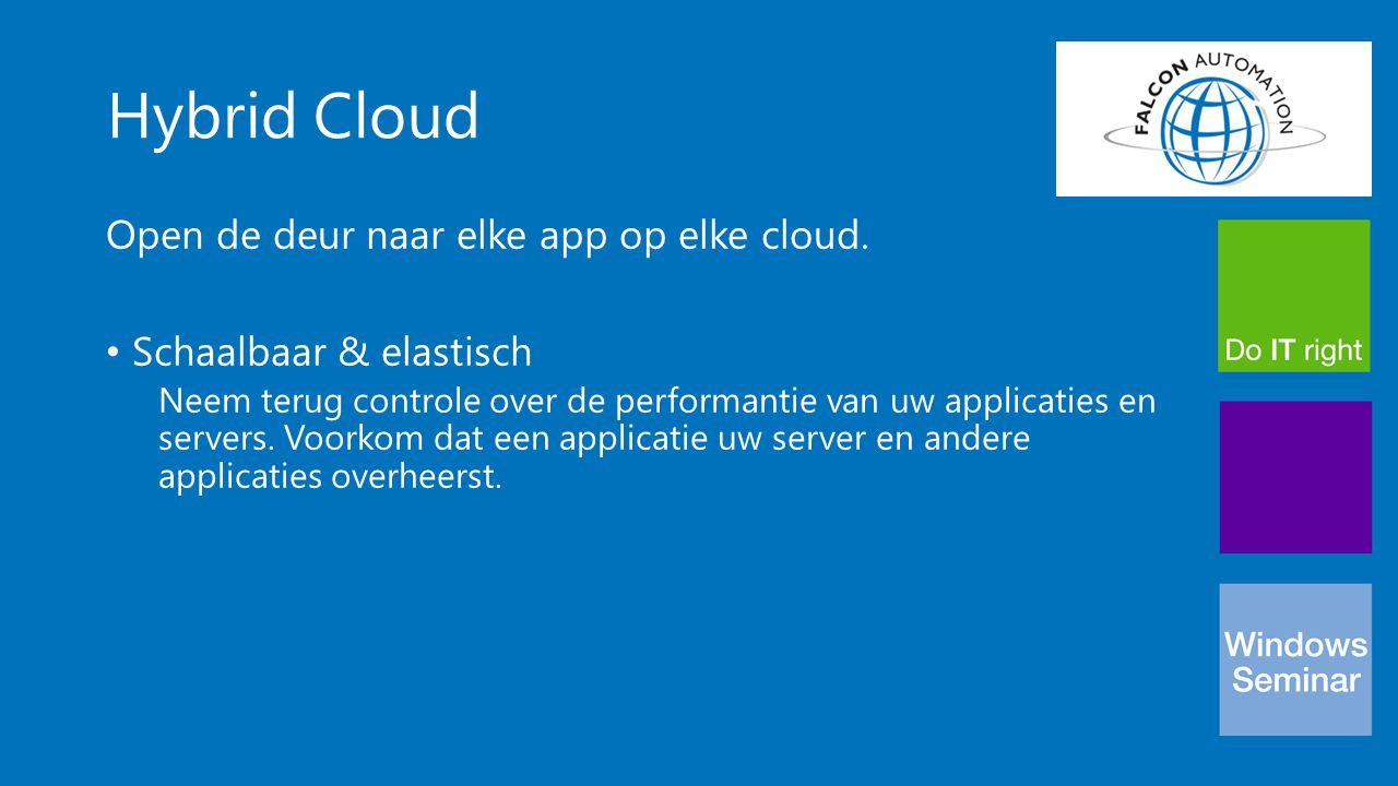 Hybrid Cloud Open de deur naar elke app op elke cloud. Schaalbaar & elastisch Neem terug controle over de performantie van uw applicaties en servers.