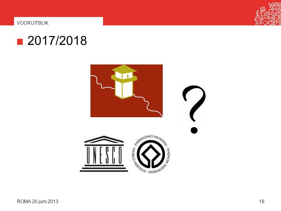 2017/2018 ROMA 20 juni 2013 VOORUITBLIK 19