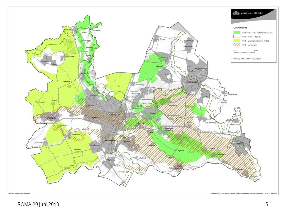Bescherming geselecteerde terreinen Ontwikkeling onder voorwaarden Voorlichting/publieksbereik Draagkracht en draagvlak Goed onderbouwde nominatie ROMA 20 juni 2013 VOORWAARDEN UNESCO 16