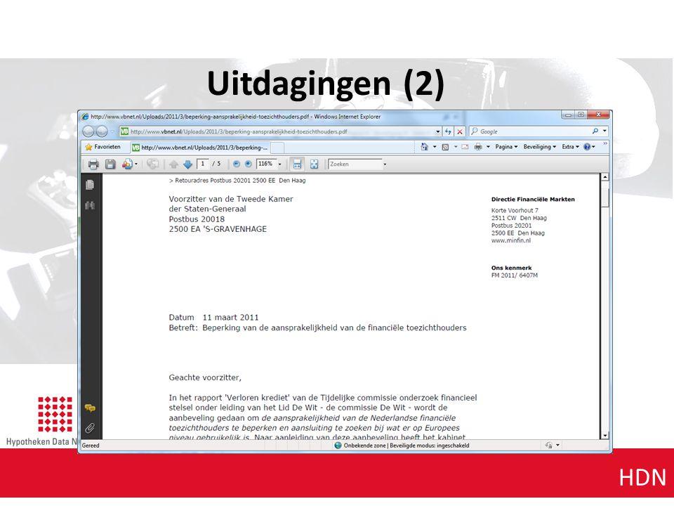 Agenda punt 1 HDN Uitdagingen (2)