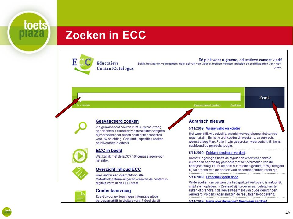 Expertiseteam Toetsenbank Zoeken in ECC 45