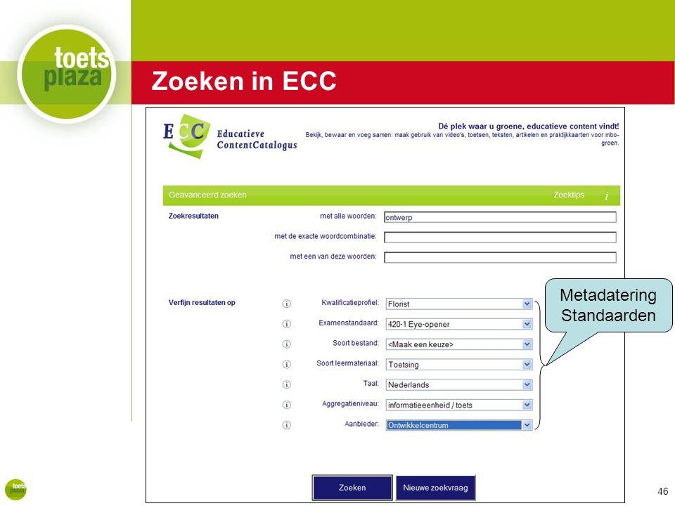 Expertiseteam Toetsenbank Metadatering Standaarden Zoeken in ECC 46