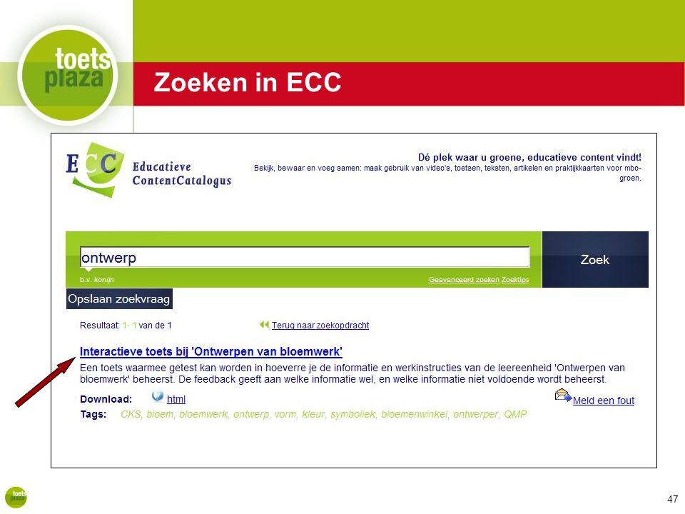 Expertiseteam Toetsenbank Zoeken in ECC 47
