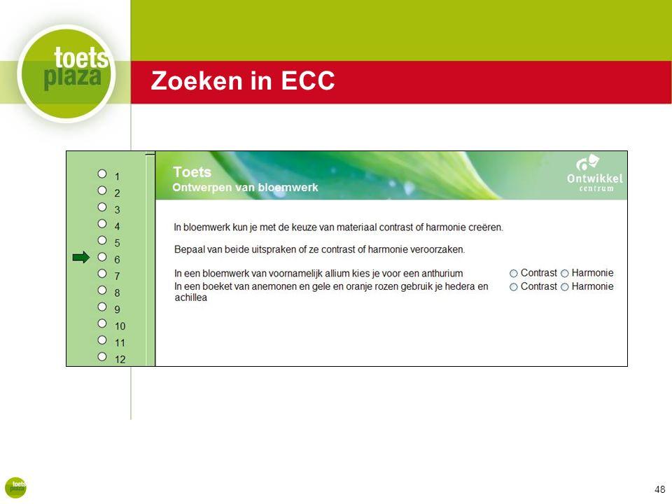 Expertiseteam Toetsenbank Zoeken in ECC 48