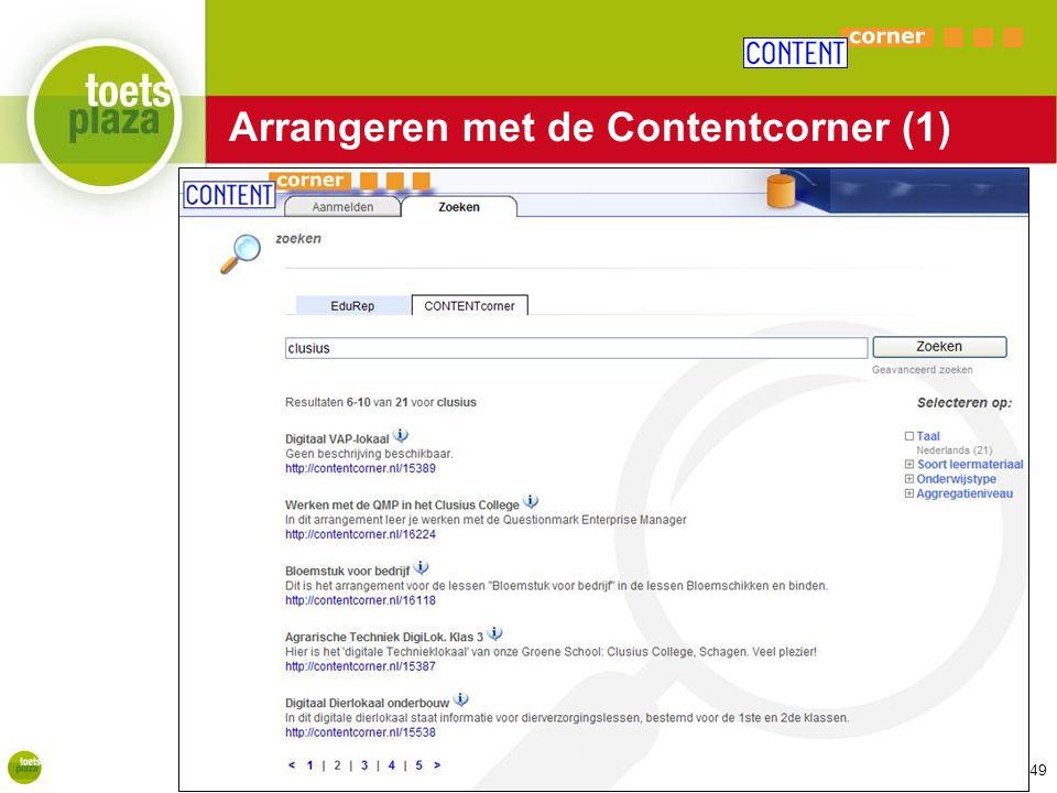 Expertiseteam Toetsenbank Arrangeren met de Contentcorner (1) 49