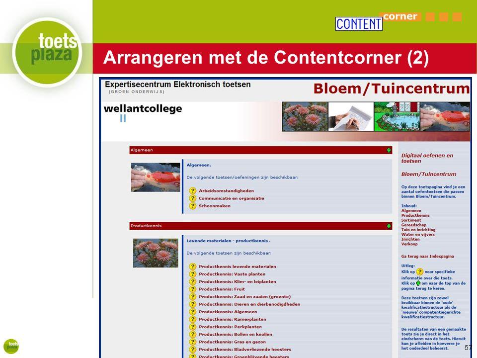 Expertiseteam Toetsenbank Arrangeren met de Contentcorner (2) 57