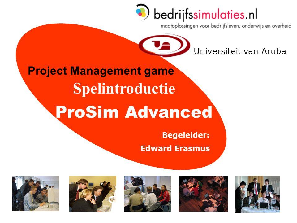 22 Prosim Advanced > Bedrijfssimulaties.nl Demonstratie van ProSim Advanced.