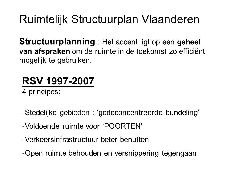 Ruimtelijk Structuurplan Vlaanderen Structuurplanning : Het accent ligt op een geheel van afspraken om de ruimte in de toekomst zo efficiënt mogelijk
