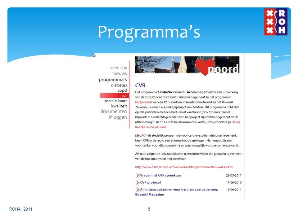 Programma's ROHA 20115