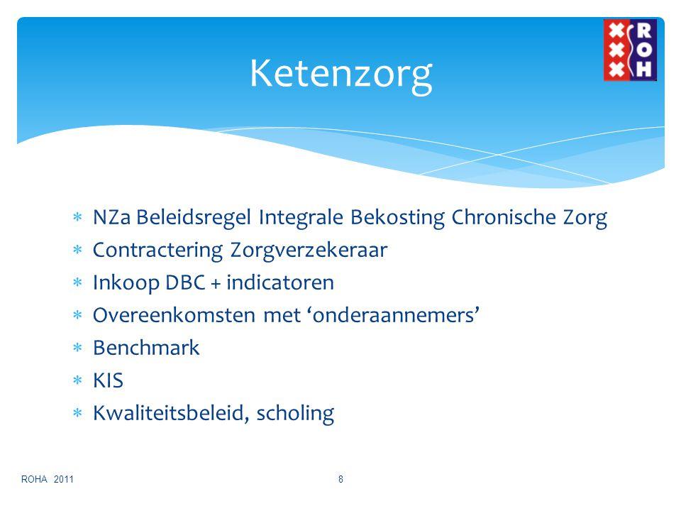  NZa Beleidsregel Integrale Bekosting Chronische Zorg  Contractering Zorgverzekeraar  Inkoop DBC + indicatoren  Overeenkomsten met 'onderaannemers