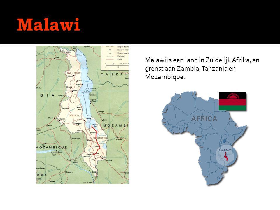 Malawi is een land in Zuidelijk Afrika, en grenst aan Zambia, Tanzania en Mozambique.