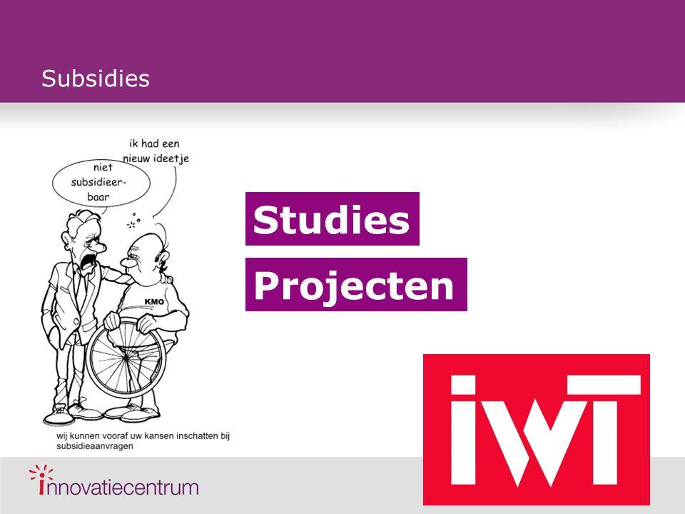 Subsidies Studies Projecten