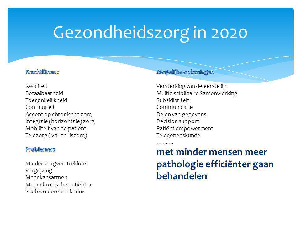 Gezondheidszorg in 2020