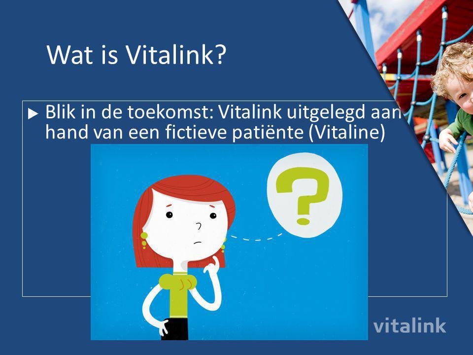  Vitalink is een nieuw, digitaal communicatieplatform van de Vlaamse overheid voor zorgverleners en patiënten.