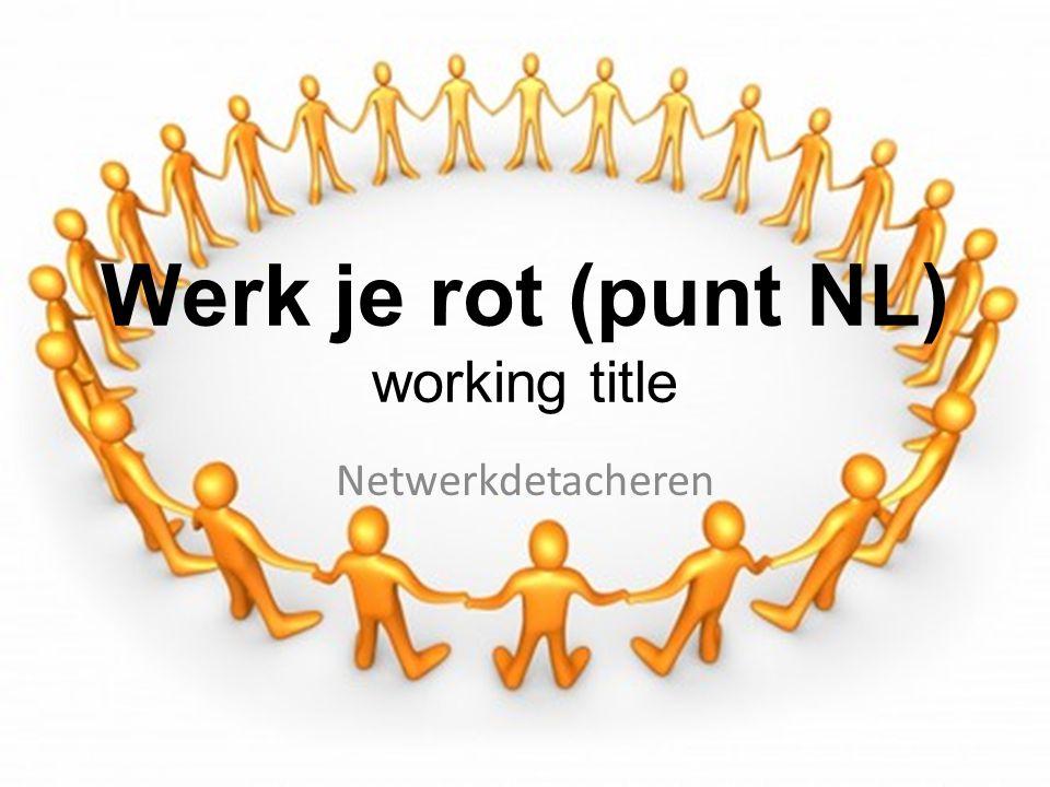 Werk je rot (punt NL) De opdrachtgever DirectieManagerTeamleider ManagerTeamleider ManagerTeamleider