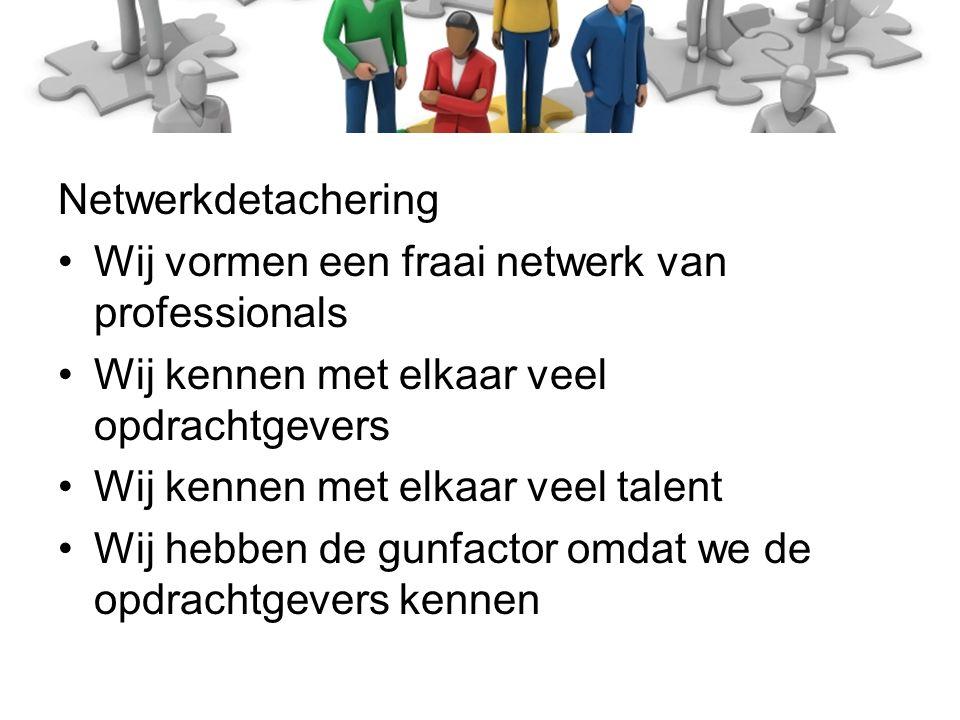 Werk je rot (punt NL) Netwerkdetachering Ligt jouw kracht in de uitvoering.