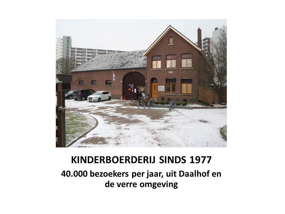 KINDERBOERDERIJ SINDS 1977 40.000 bezoekers per jaar, uit Daalhof en de verre omgeving