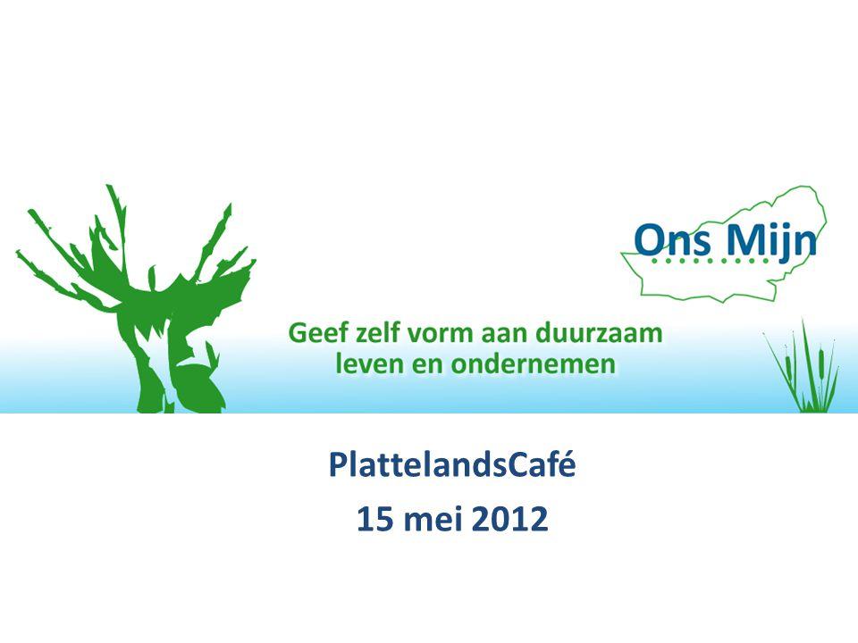 PlattelandsCafé 15 mei 2012