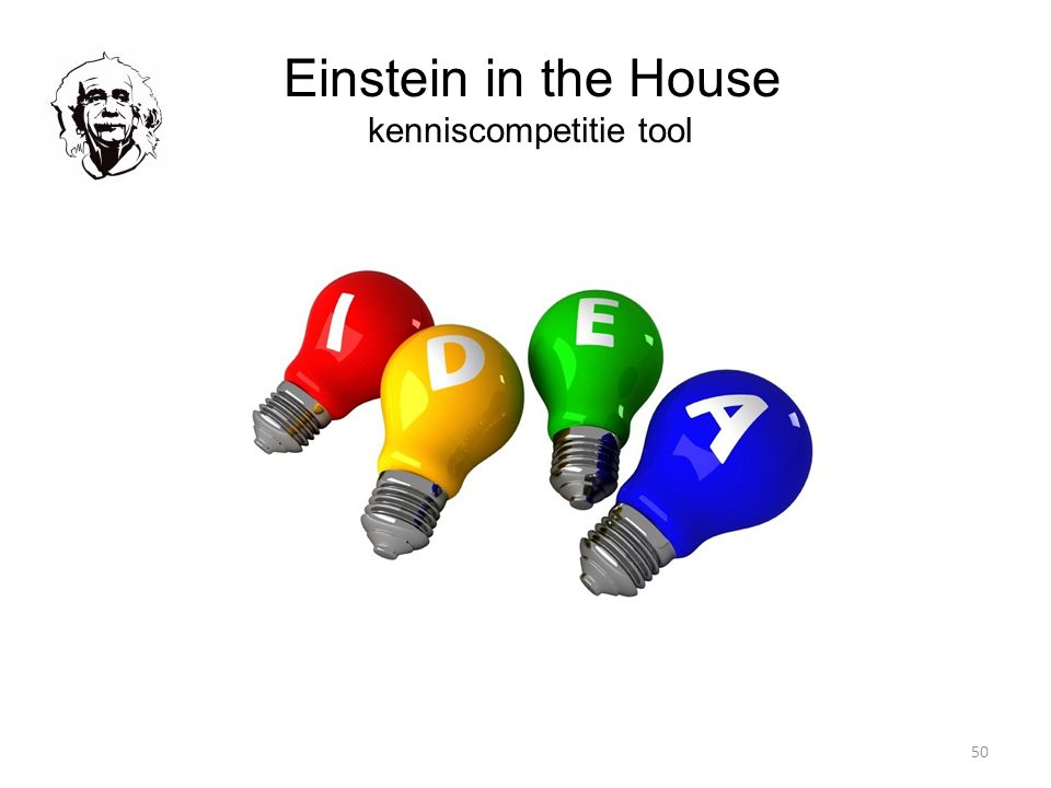 50 Einstein in the House kenniscompetitie tool
