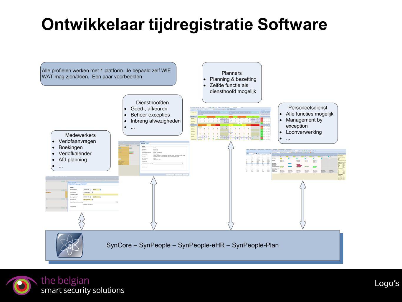 Ontwikkelaar tijdregistratie Software Logo's