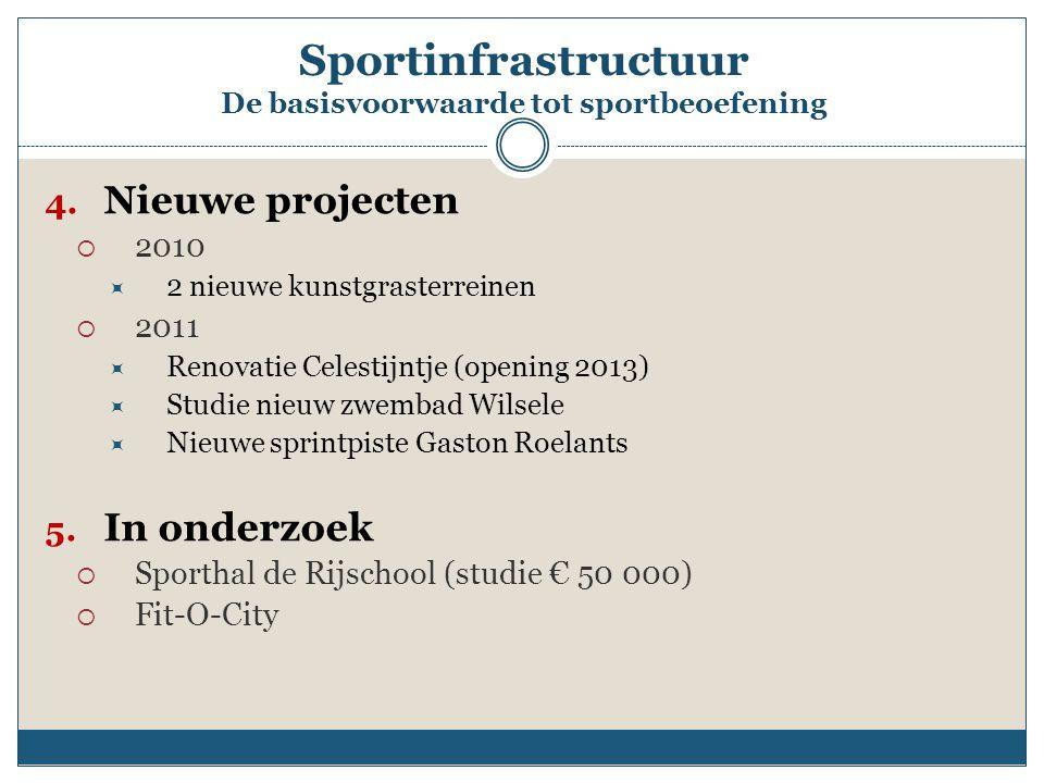 Sportinfrastructuur De basisvoorwaarde tot sportbeoefening 4.