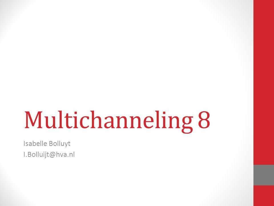 Multichanneling 8 Isabelle Bolluyt I.Bolluijt@hva.nl