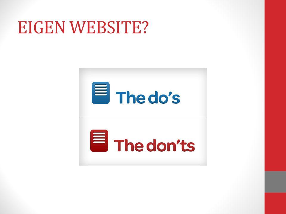 EIGEN WEBSITE?