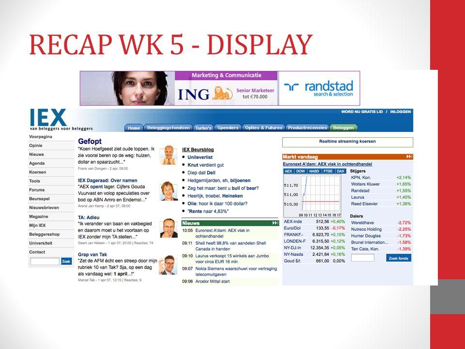 RECAP WK 5 - DISPLAY
