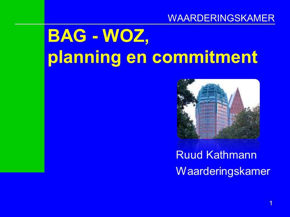 WAARDERINGSKAMER BAG - WOZ, planning en commitment Ruud Kathmann Waarderingskamer 1
