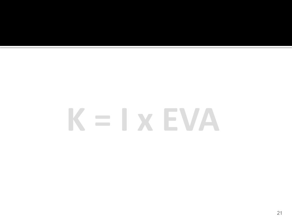 21 K = I x EVA