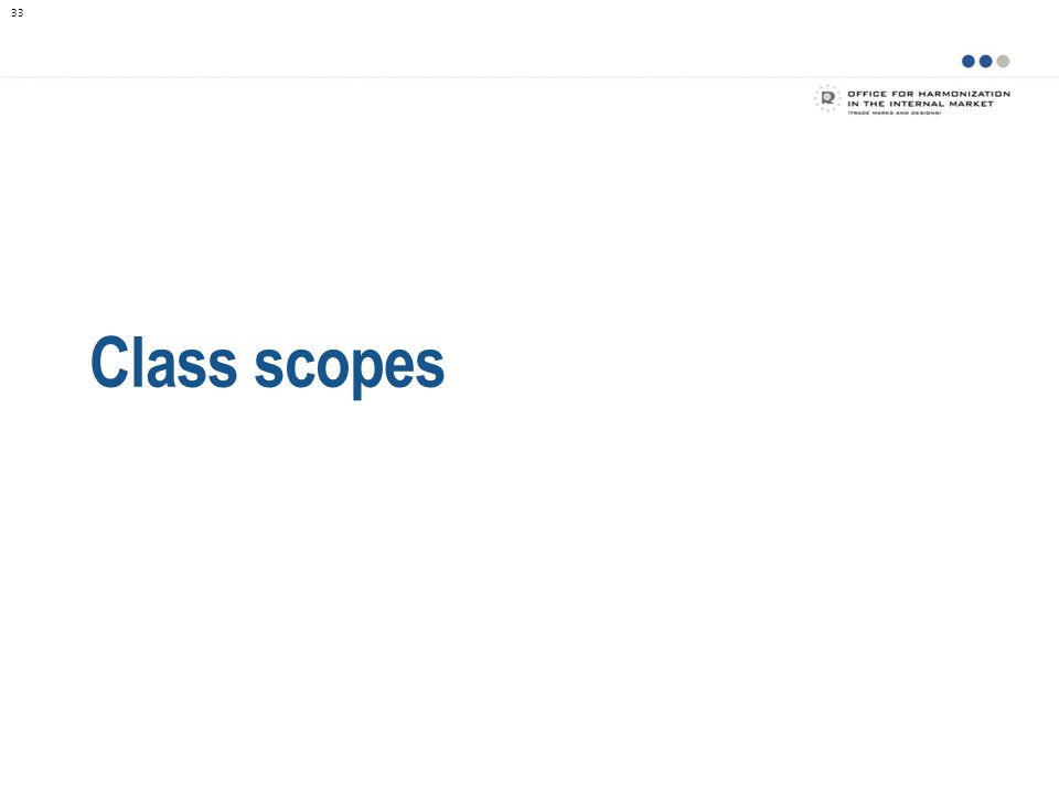 Class scopes 33