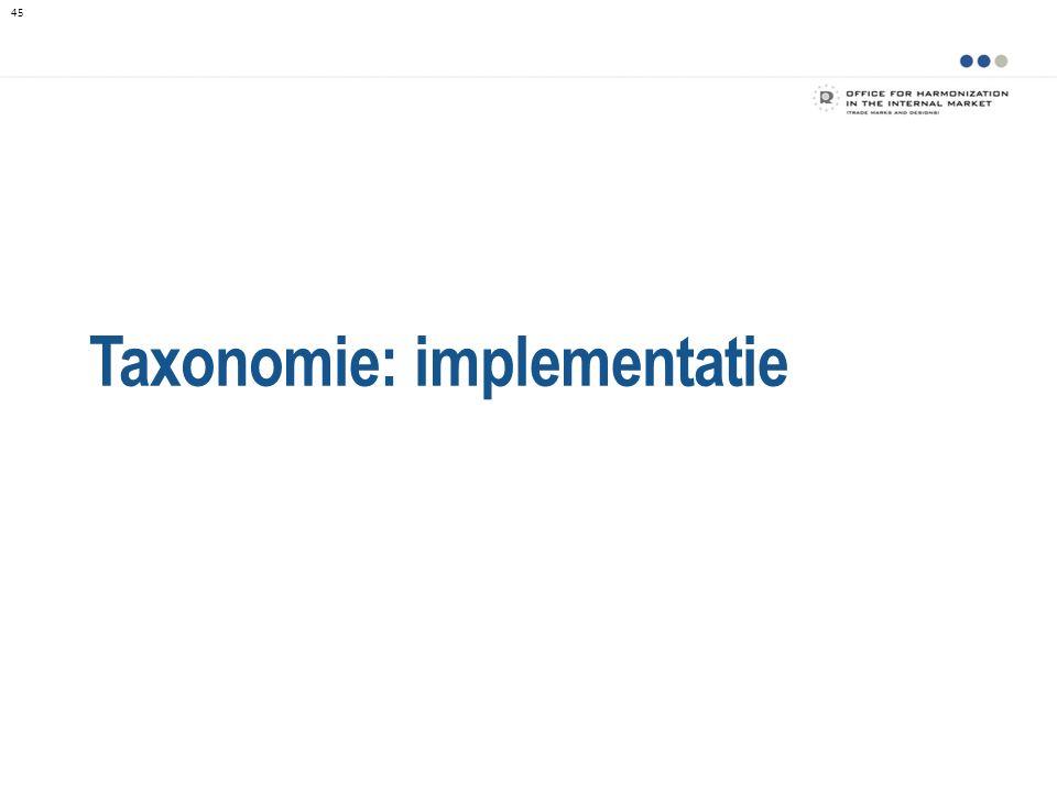 Taxonomie: implementatie 45