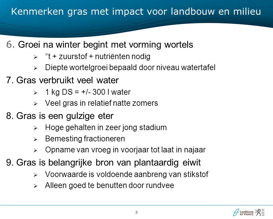 33 Kenmerken gras met impact voor landbouw en milieu 6.